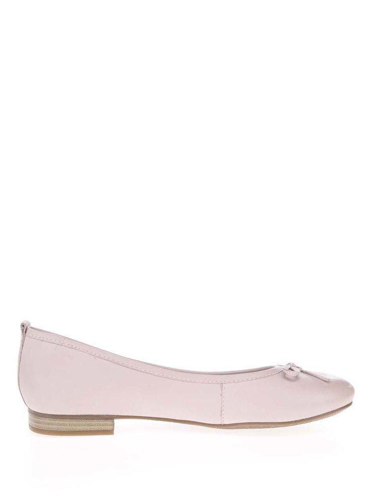 Balerini roz Tamaris din piele