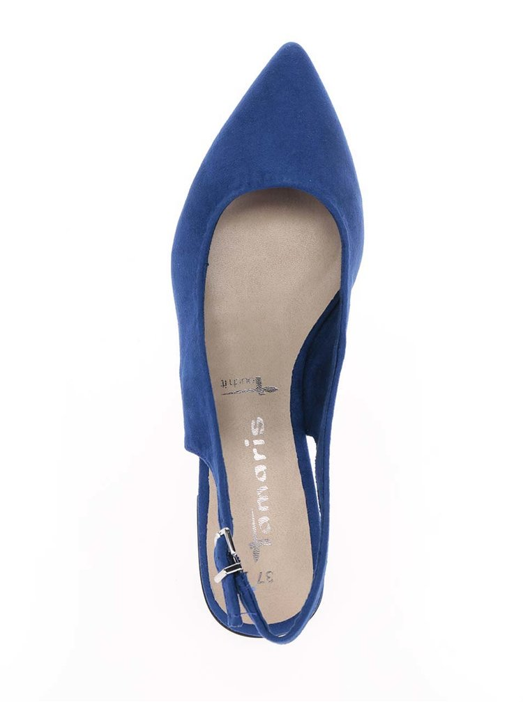 Pantofi slingback albaștri Tamaris