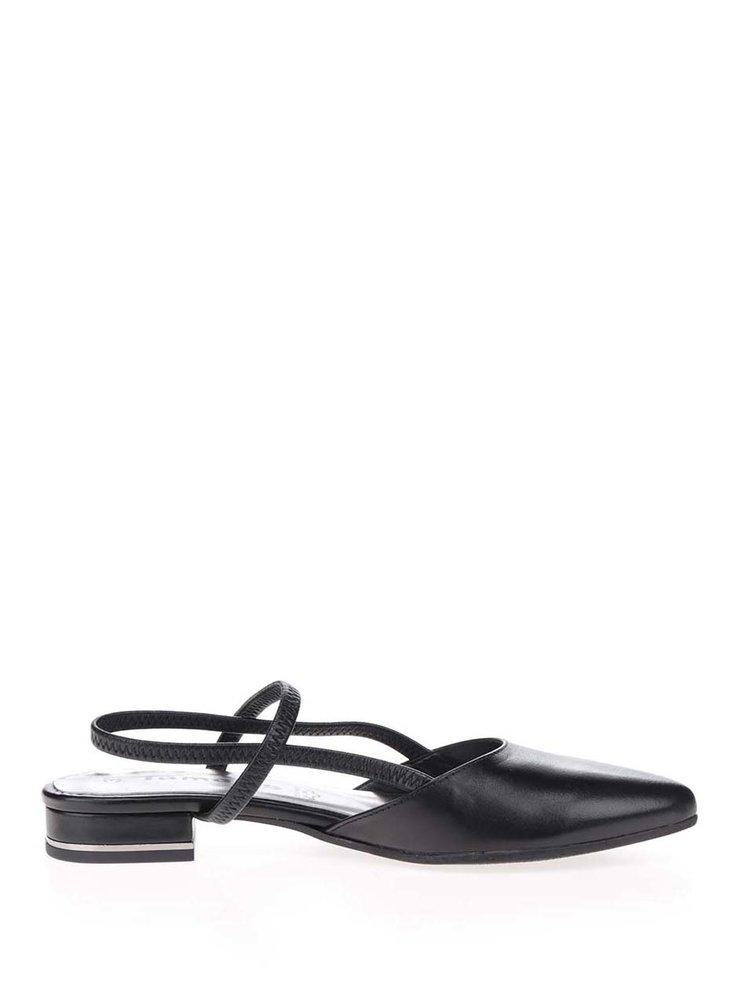 Pantofi slingback negrii Tamaris din piele