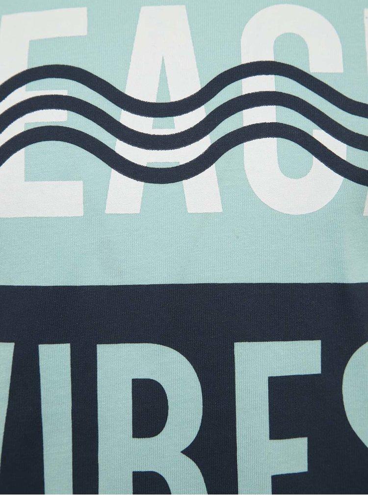 Modré klučičí tričko s potiskem name it Kurt