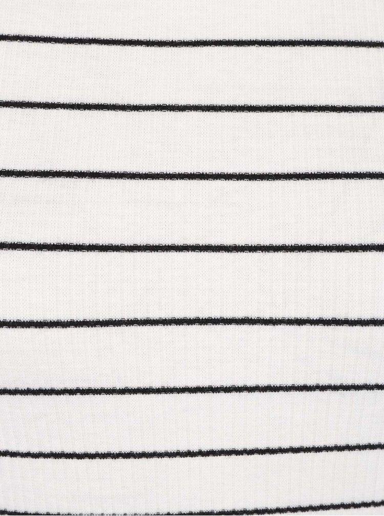 Krémové pruhované šaty s průstřihy na ramenou Jacqueline de Yong Nevada