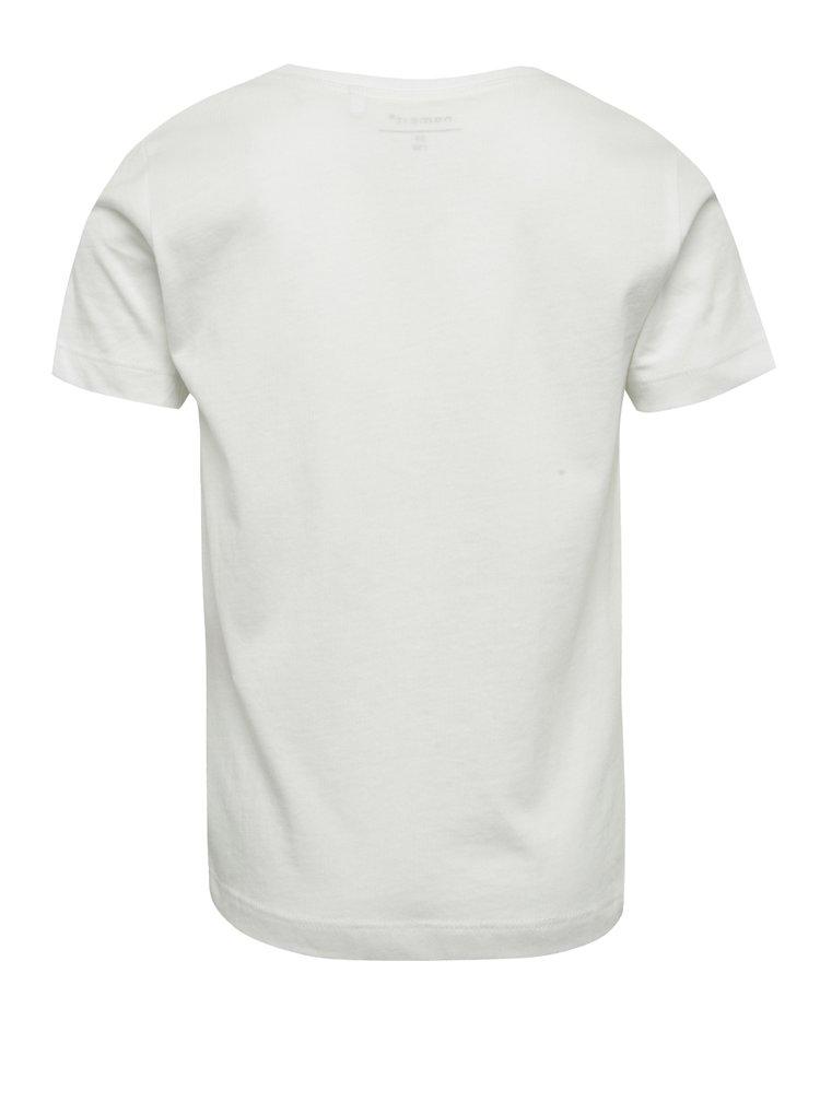 Bílé klučičí tričko s potiskem name it Kurt