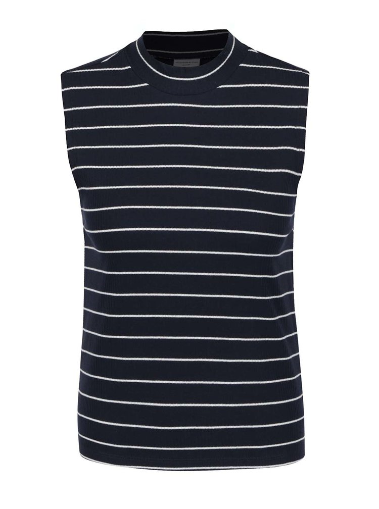 Tmavě modré pruhované tričko Jacqueline de Yong Nevada