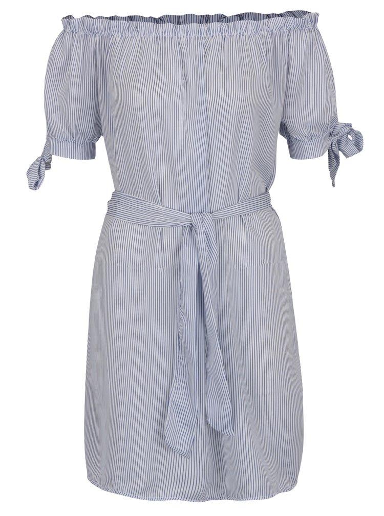 Modro-bílé pruhované šaty Haily's Sabrina