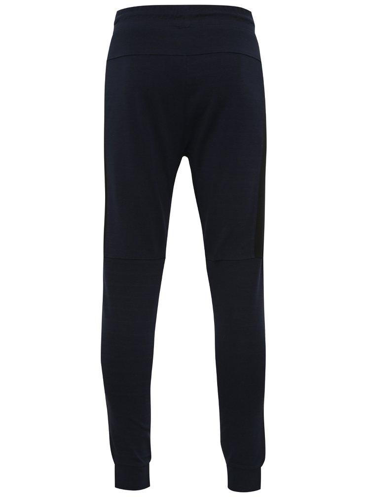 Pantaloni albastru închis Jack & Jones Light cu șnur în talie