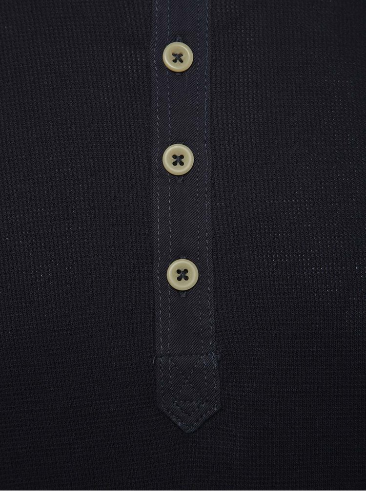 Bluza albastru inchis Jack & Jones Dustin din bumbac