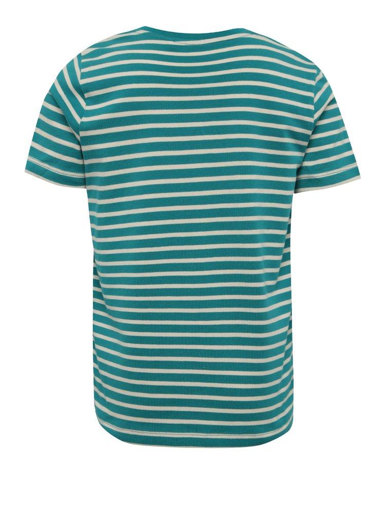 Krémovo-zelené klučičí triko s potiskem name it Vuxjess