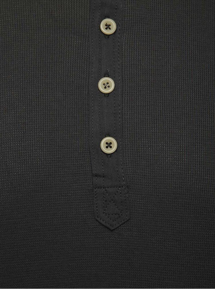 Tmavě šedé triko s dlouhým rukávem Jack & Jones Dustin