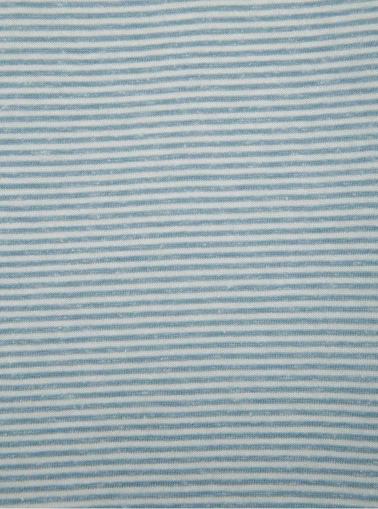 Světle modré pruhované triko Jack & Jones True