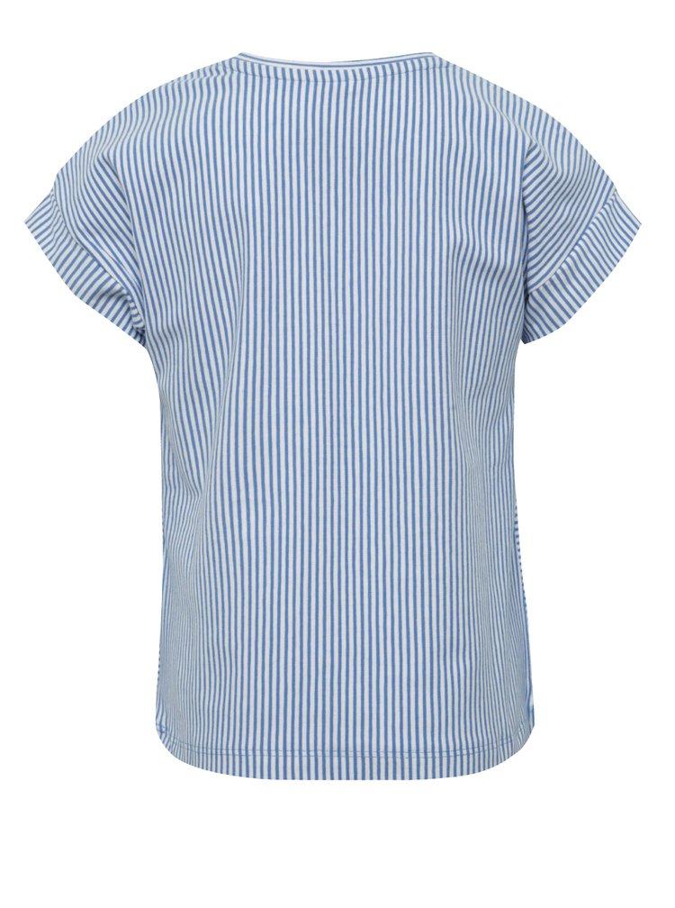 Bílo-modré holčičí pruhované tričko name it Kippi