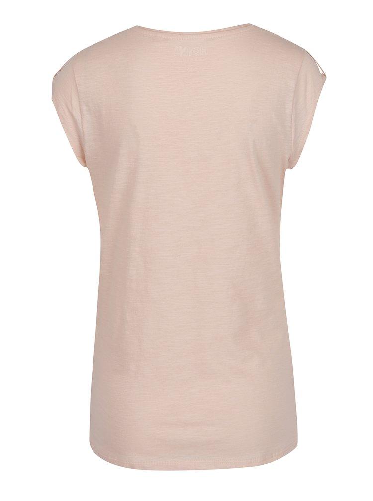 Světle růžové žíhané tričko s detaily Haily's Selin