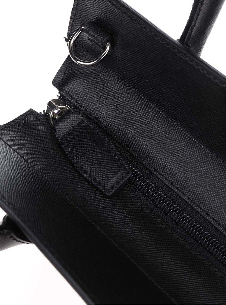 Černá kožená kabelka Elega Nate