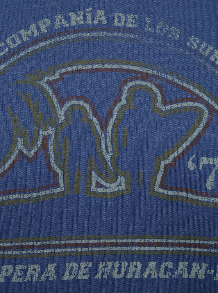 Modré triko s potiskem Jack & Jones Pilton