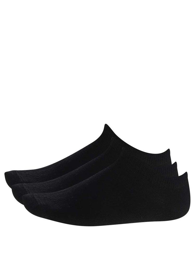 Sada tří kotníkových ponožek v černé barvě name it Jakobi