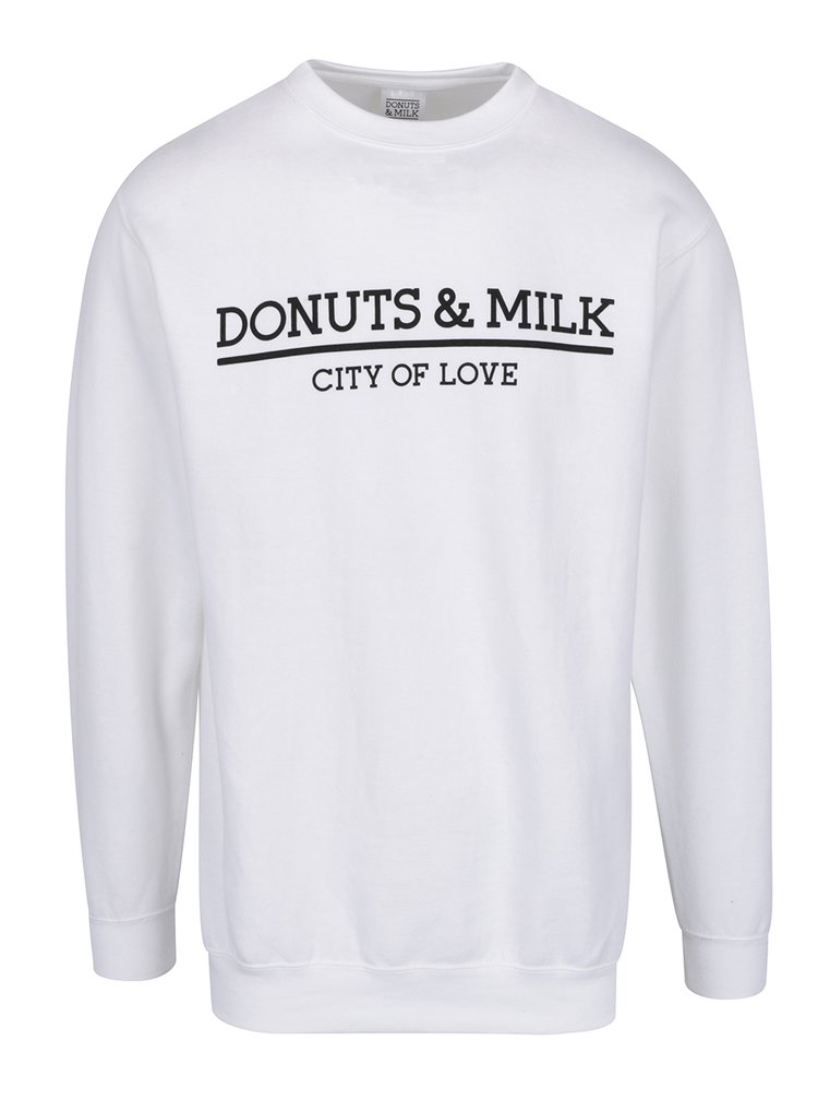 Bluza sport alba Donuts & Milk unisex