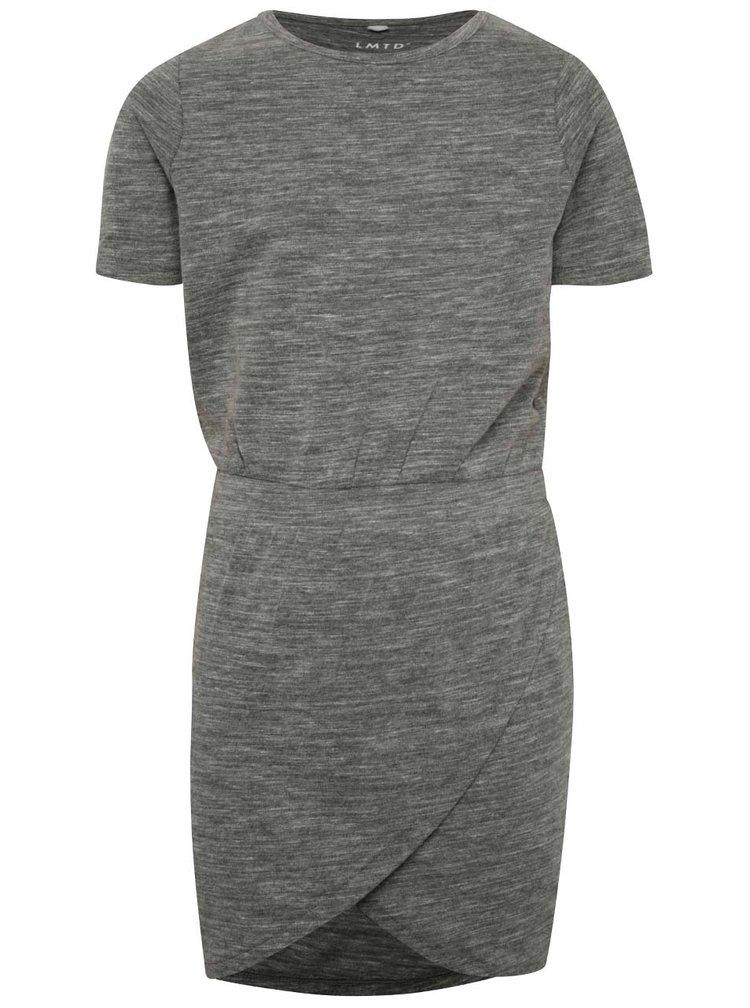 Šedé holčičí žíhané šaty s překládanou sukní LIMITED by name it Sola