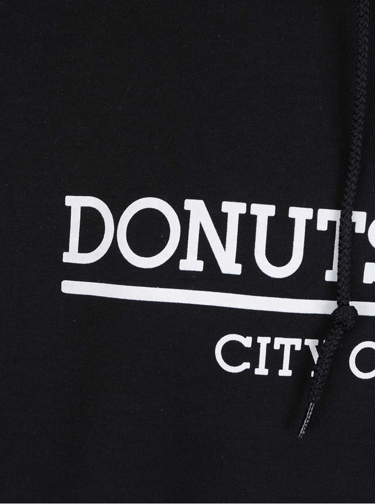 Hanorac negru Donuts & Milk unisex