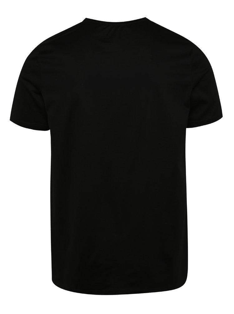 Tricou negru Jack & Jones Merce din bumbac