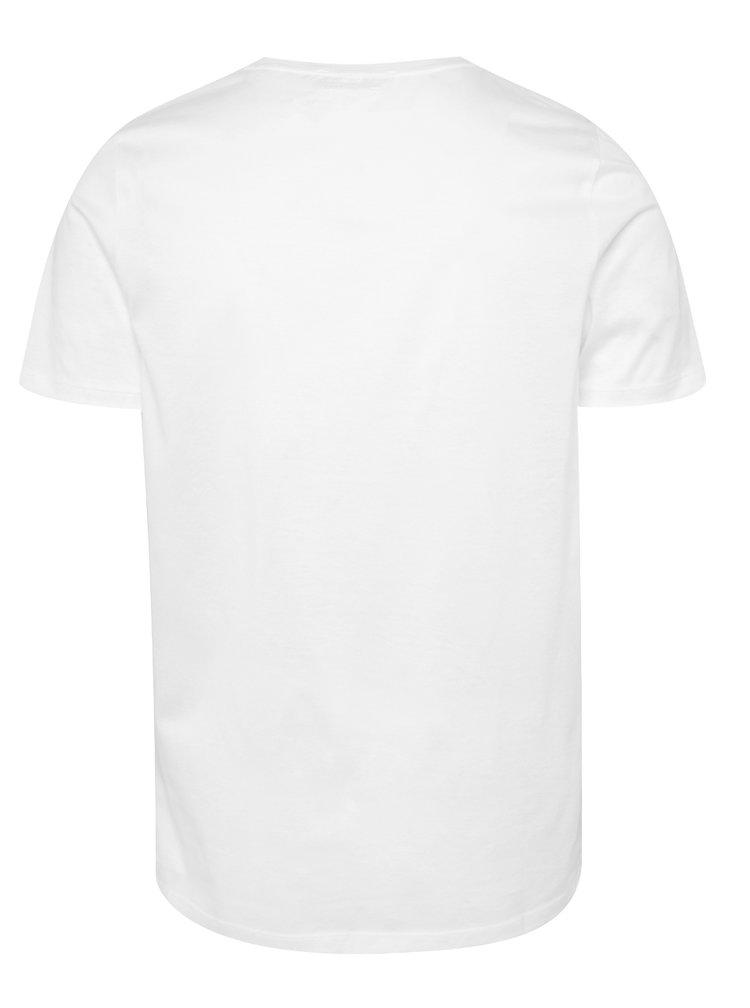 Bílé basic triko Jack & Jones Merce