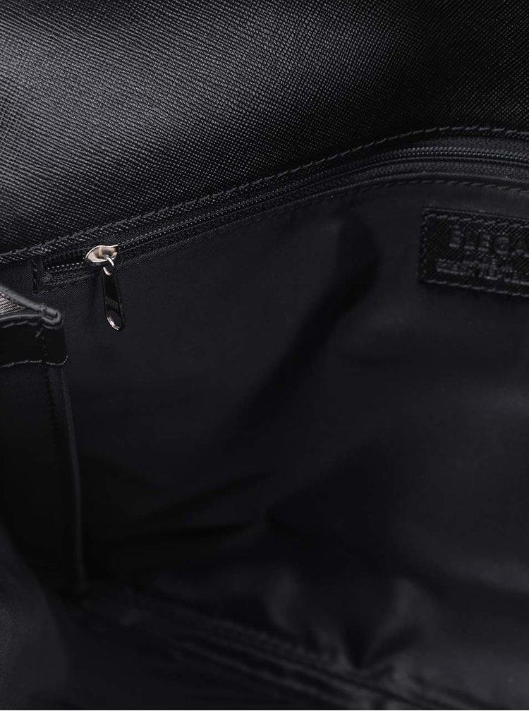 Černá kožená crossbody kabelka/psaníčko Elega Lola