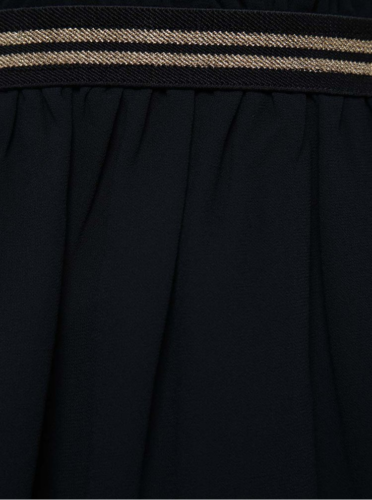 Tmavě modrá holčičí sukně s ozdobným lemem LIMITED by name it Narosa