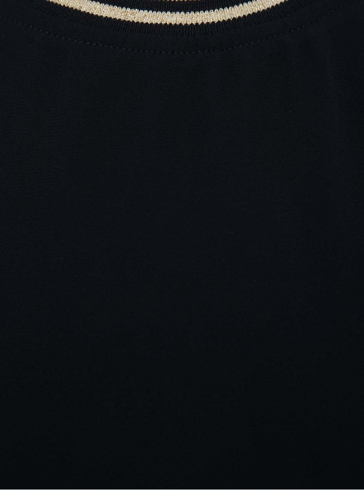 Tmavě modré holčičí tílko s ozdobným lemem LIMITED by name it Narosa