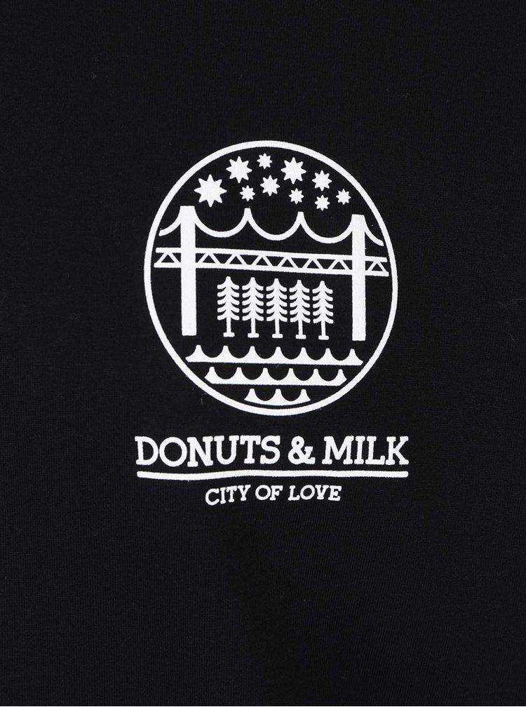 Bluză sport neagră Donuts & Milk unisex