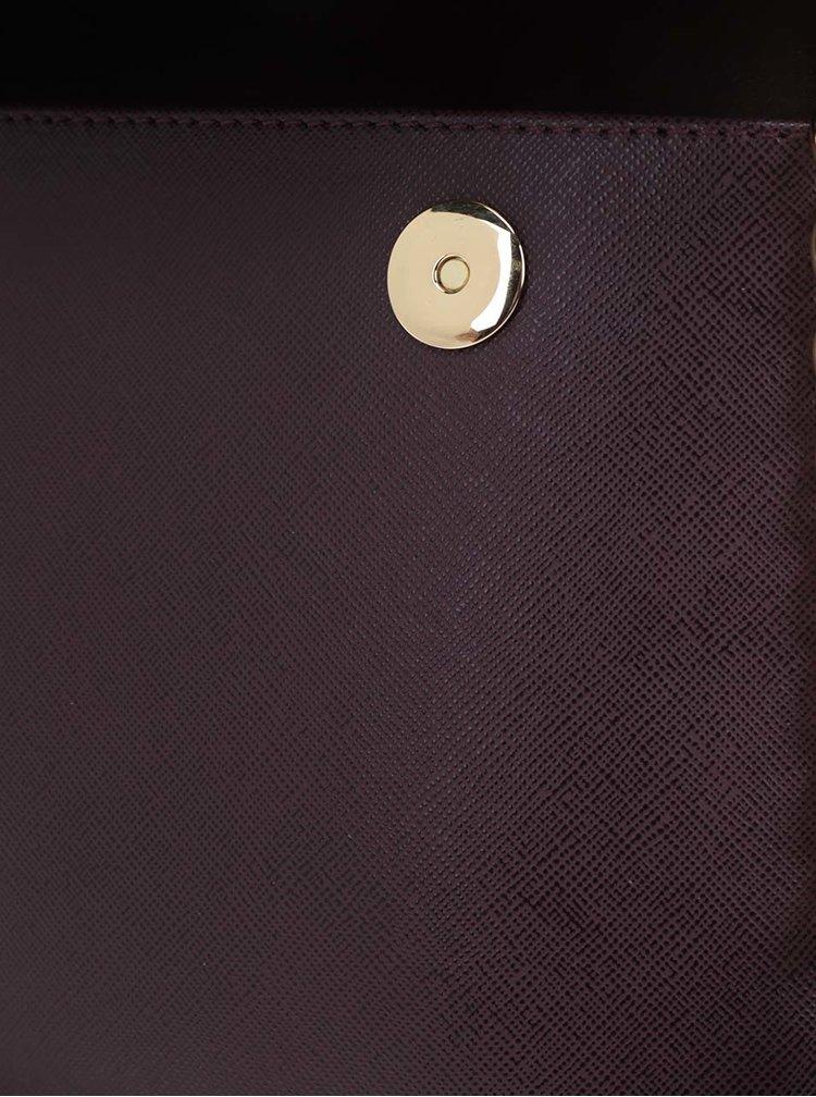 Vínová kožená crossbody kabelka Elega Ann