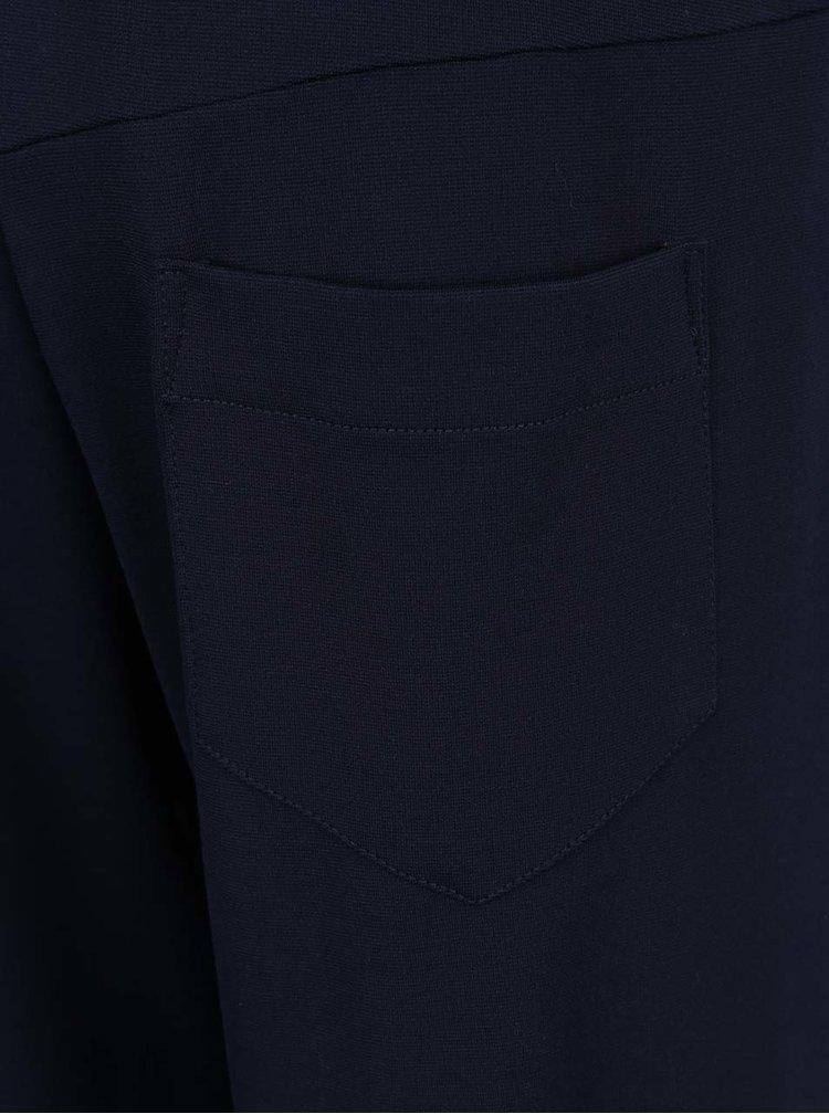 Pantaloni albastru inchis Jana Minaříková cu panglica in talie