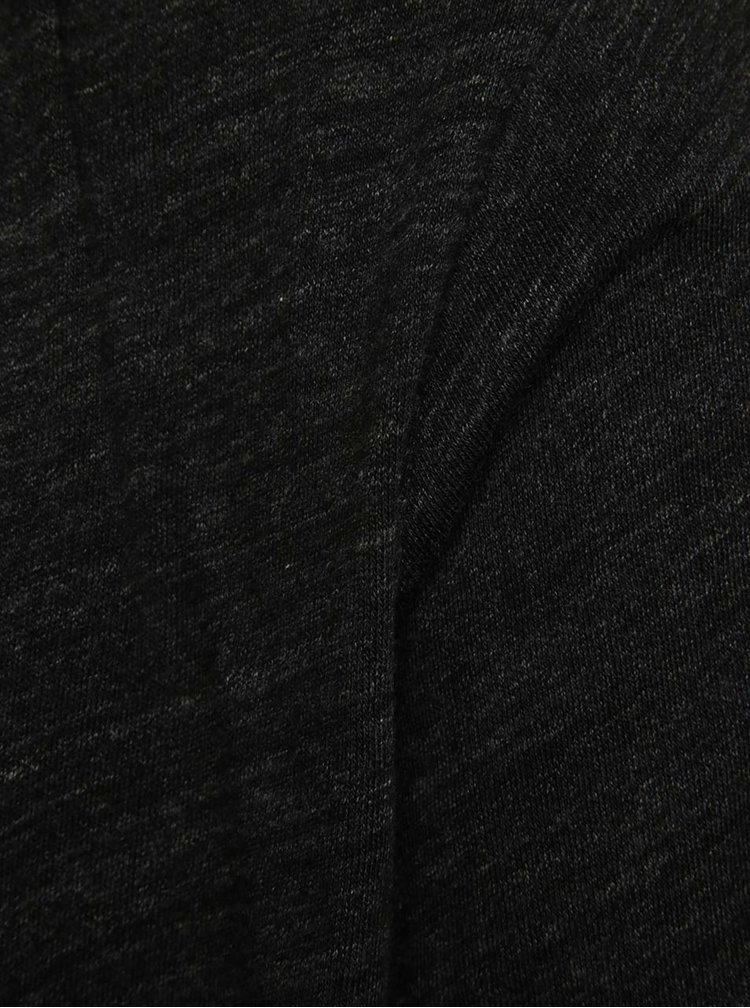 Tmavě šedý žíhaný kardigan s kapucí Jack & Jones Toby