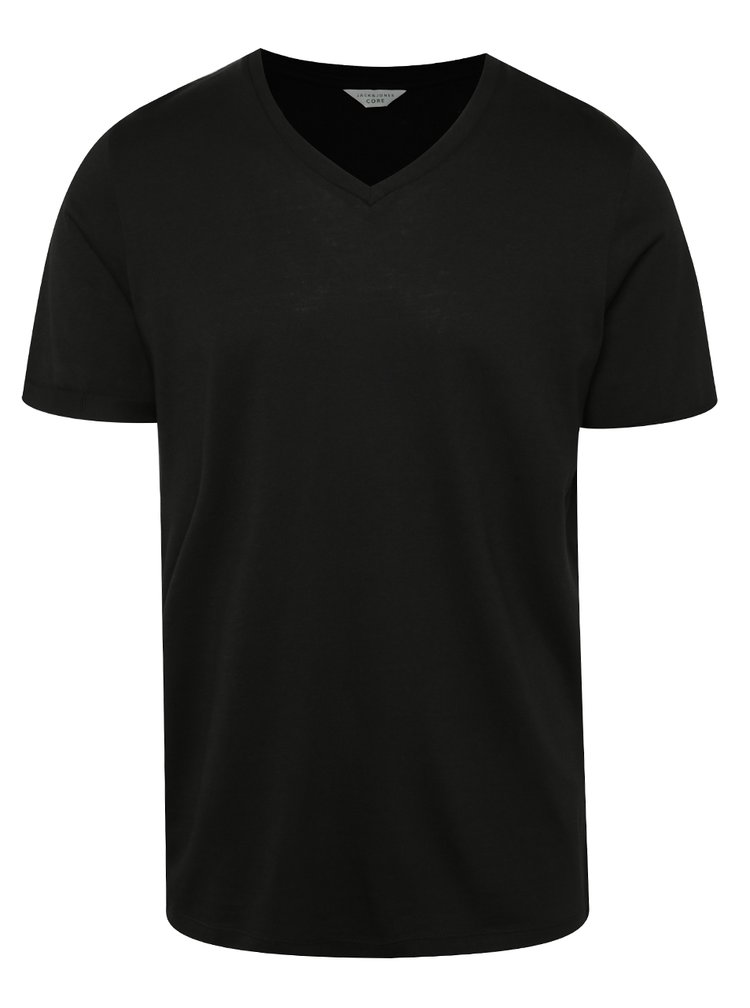 Tricou basic negru Jack & Jones Trancer