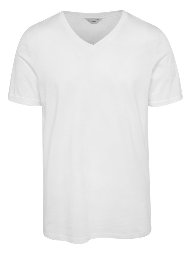 Tricou basic alb Jack & Jones Trancer