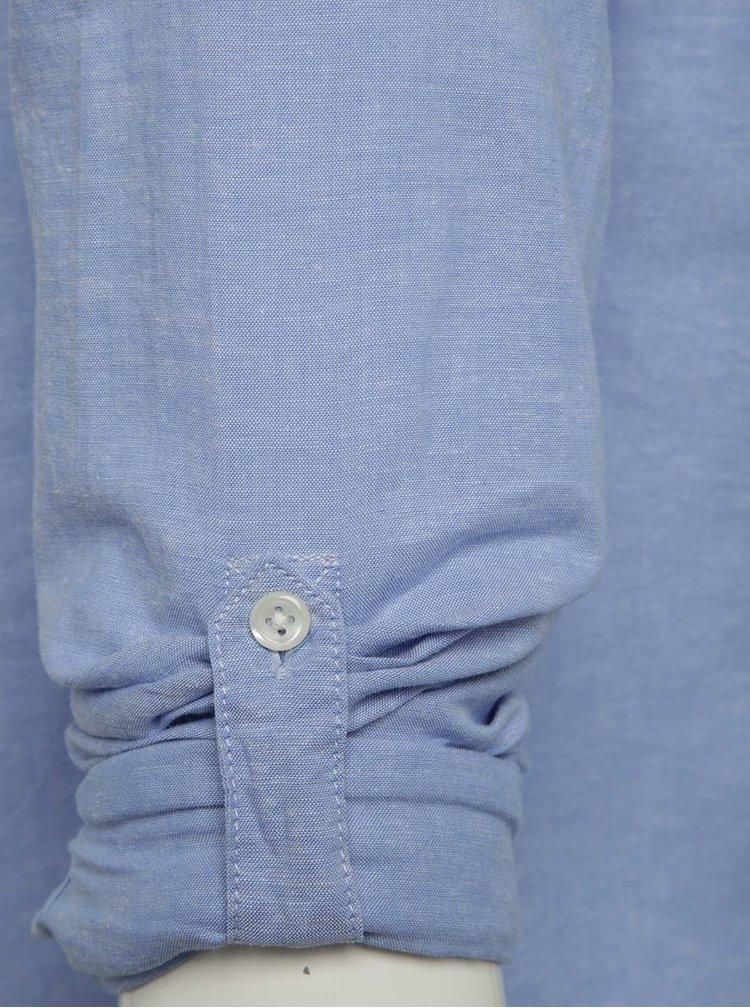 Cămașă albastră Jack & Jones Summer cu buzunar pe piept