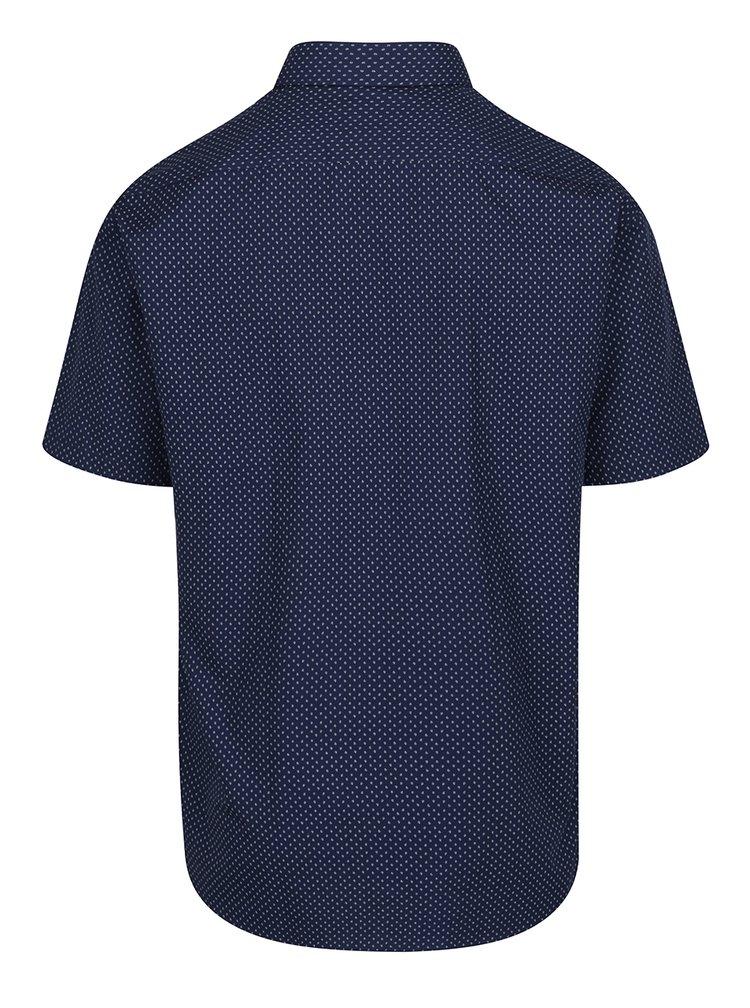 Tmavě modrá neformální vzorovaná košile Seven Seas