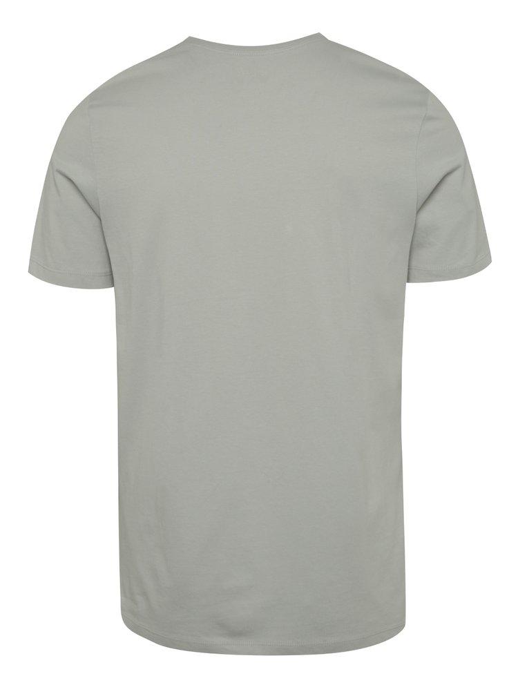 Světle šedé triko s potiskem Jack & Jones Mads