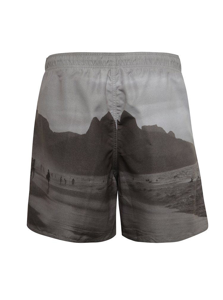 Bermude de baie gri Jack & Jones Photo cu imprimeu