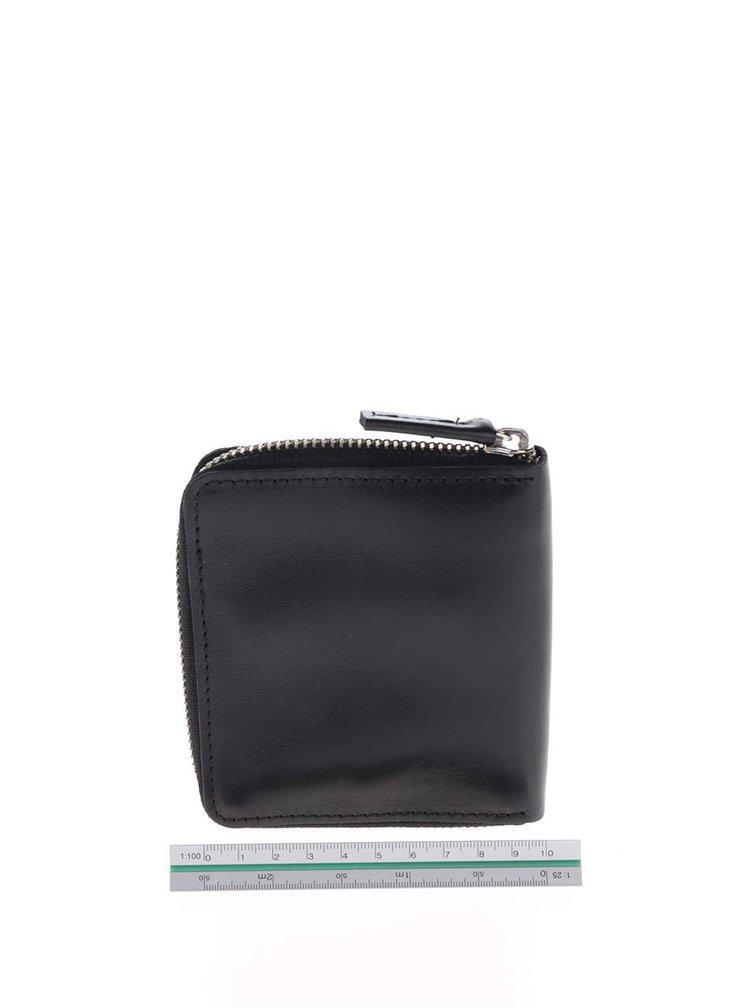 Černá kožená unisex peněženka KOZAK Daniel