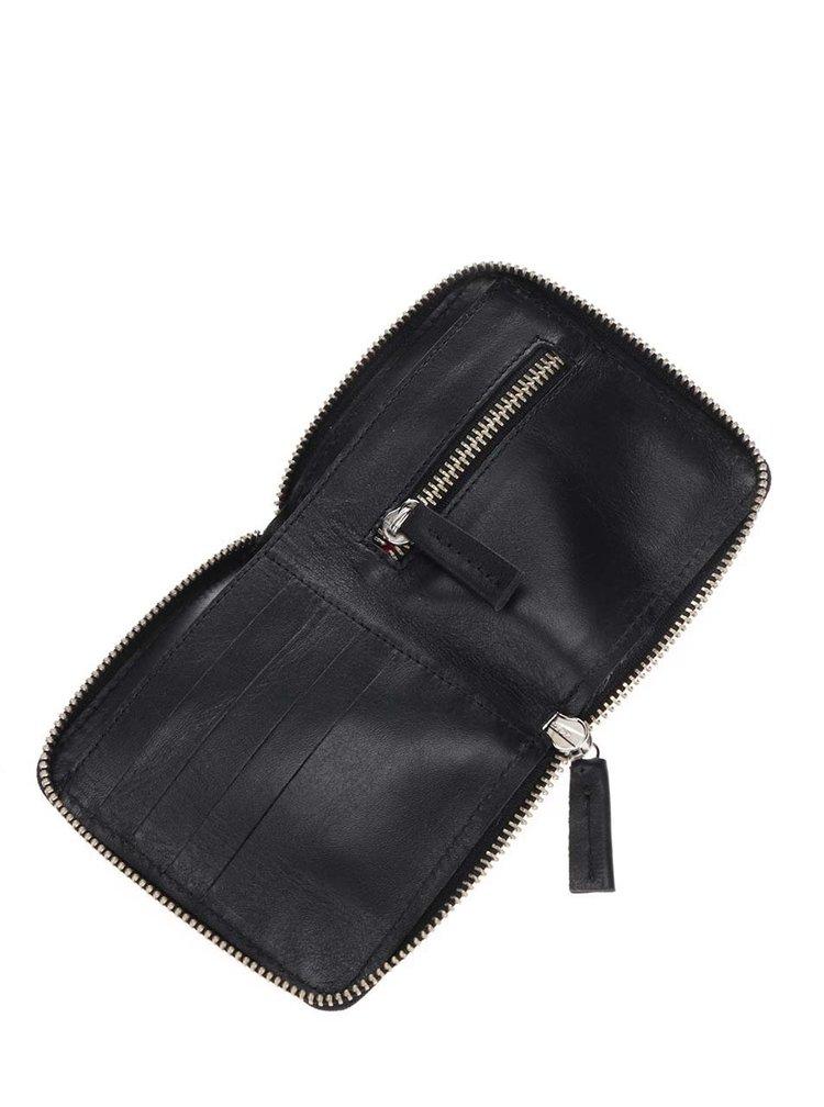 Černá kožená unisex peněženka KOZAK