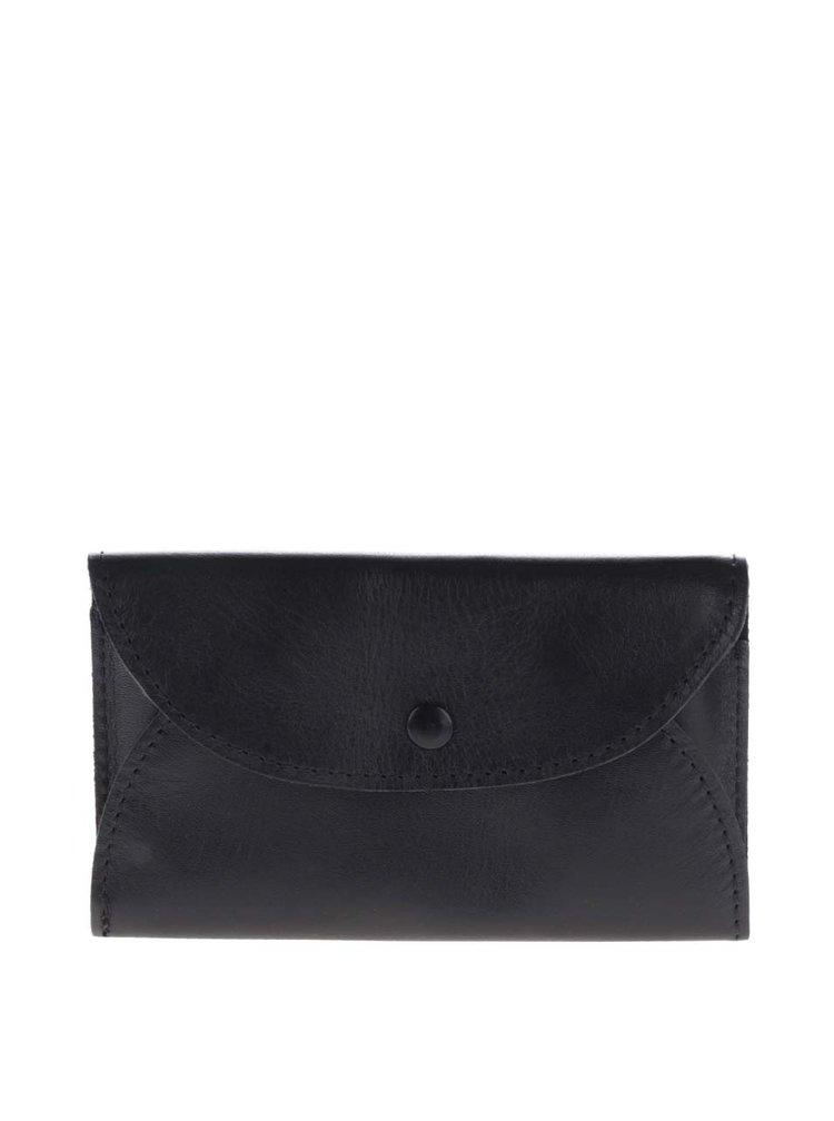 Černá kožená dámská peněženka na mince KOZAK