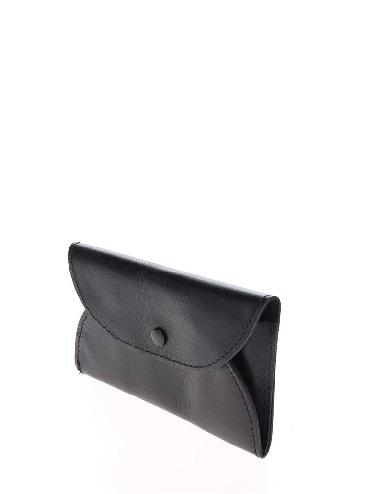 Portofel negru KOZAK cu capsa metalica