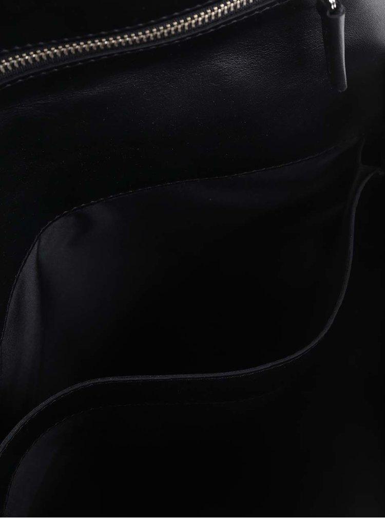 Rucsac negru KOZAK din piele
