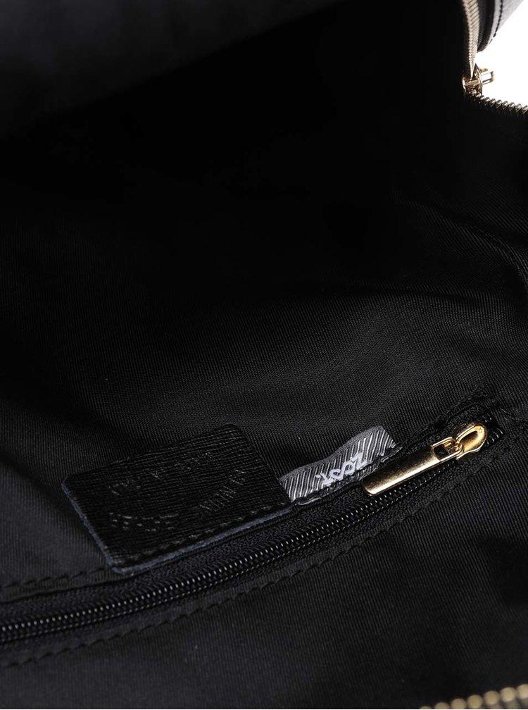 Černý dámský kožený batoh s kapsou na přední straně ZOOT