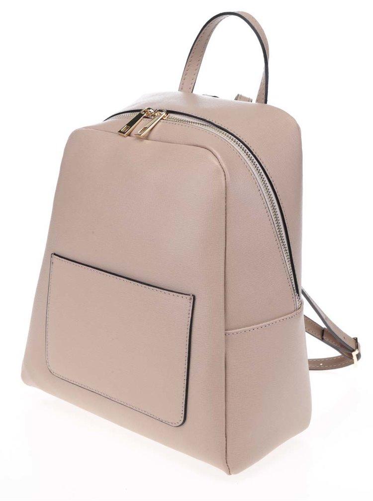 Starorůžový dámský kožený batoh ZOOT
