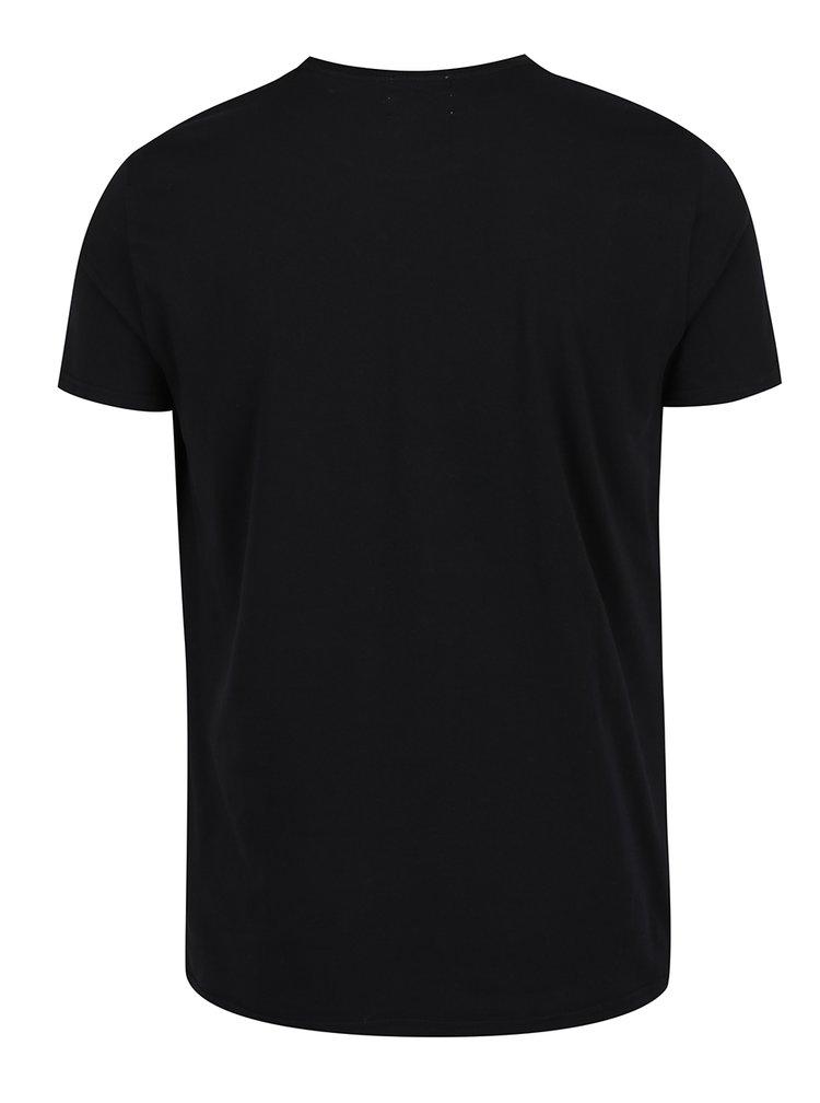 Černé pánské tričko s potiskem Pepe Jeans Original