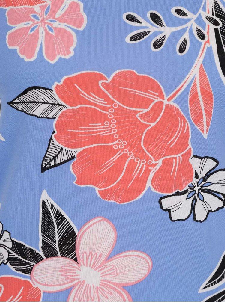 Modré tílko s květovaným motivem Dorothy Perkins