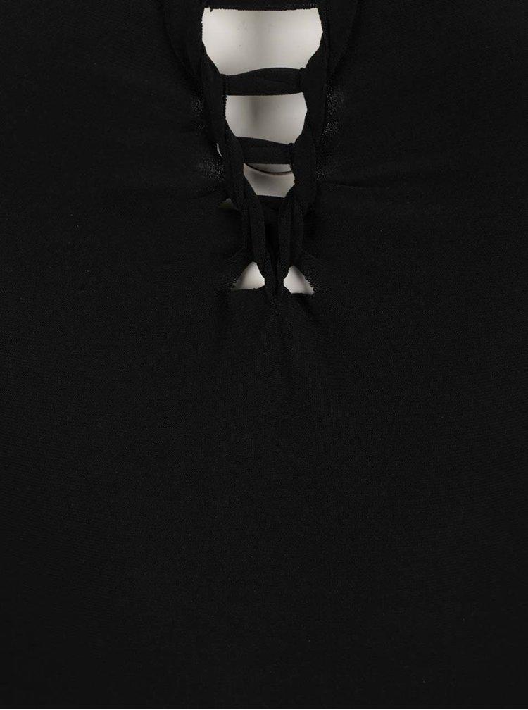 Body negru Miss Selfridge cu bretele incrucisate