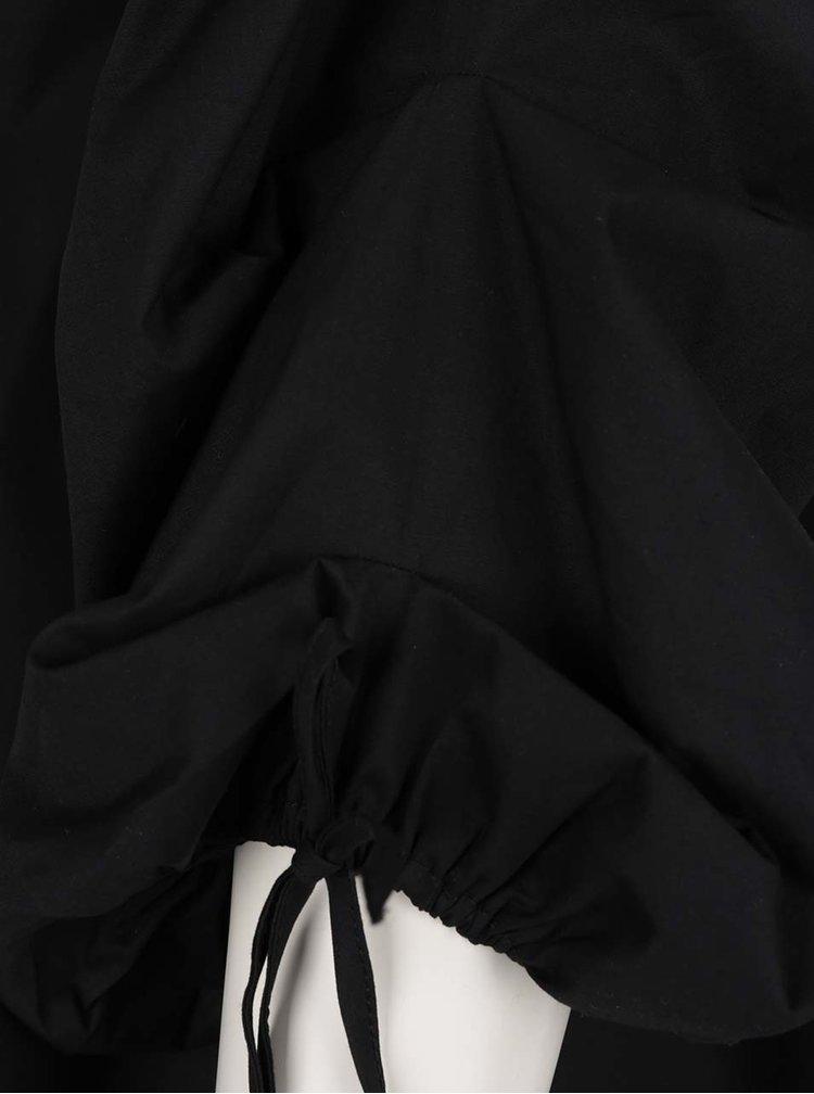 Bluză cropneagră Miss Selfridge cu decolteu pe umeri