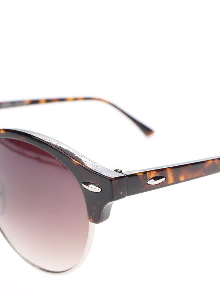 Černo-hnědé vzorované sluneční brýle VERO MODA Love