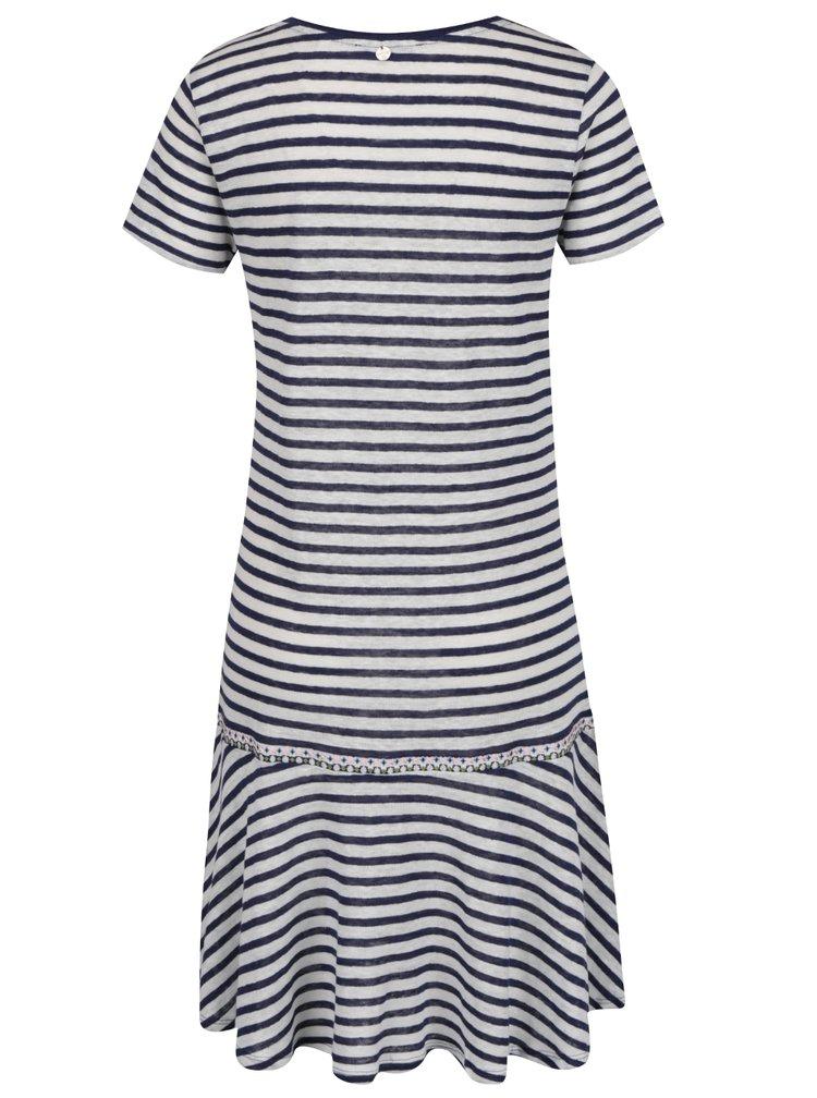 Modro-bílé pruhované šaty Rich & Royal