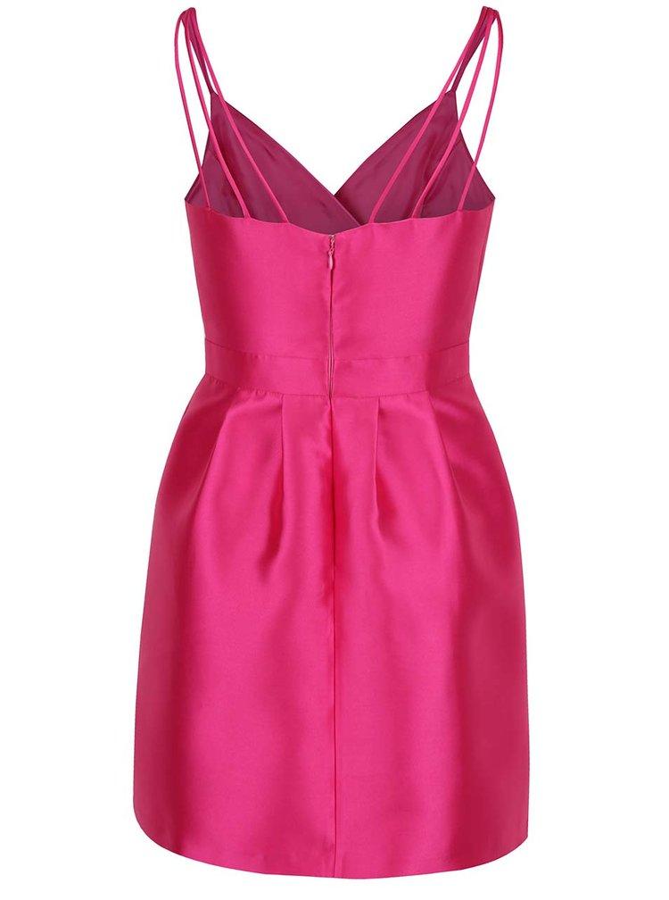 Ružové puzdrové šaty s prekladaným topom Miss Selfridge